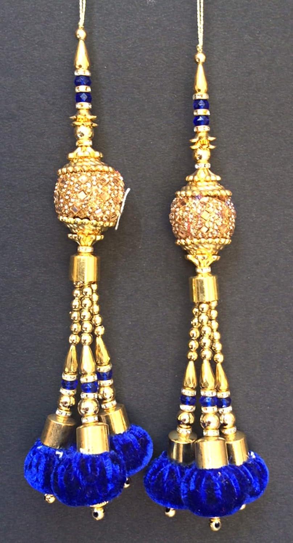 Indian Handmade Tassels Colorful Long Latkans 1 Pair Blouse Sari ...