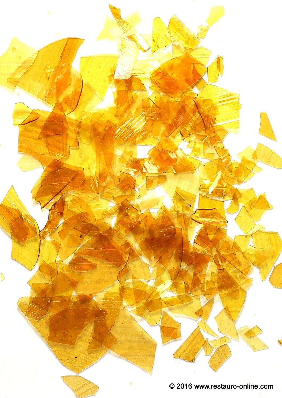 1 kg SCHELLACK GOLD ORANGE WACHSFREI ORANGE DEWAXED BLÄTTERSCHELLACK SHELLAC