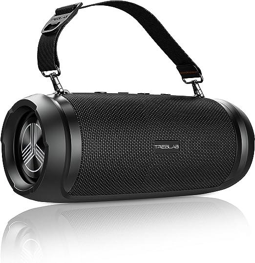 TREBLAB HD-Max - Big Loud Bluetooth Speaker - 50W, 20H Battery, Powerbank, TWS, IPX6 Waterproof   Loud Portable Speaker with Deep Bass   Wireless Outdoor Speakers w/Type-C Connector & Carrying Strap