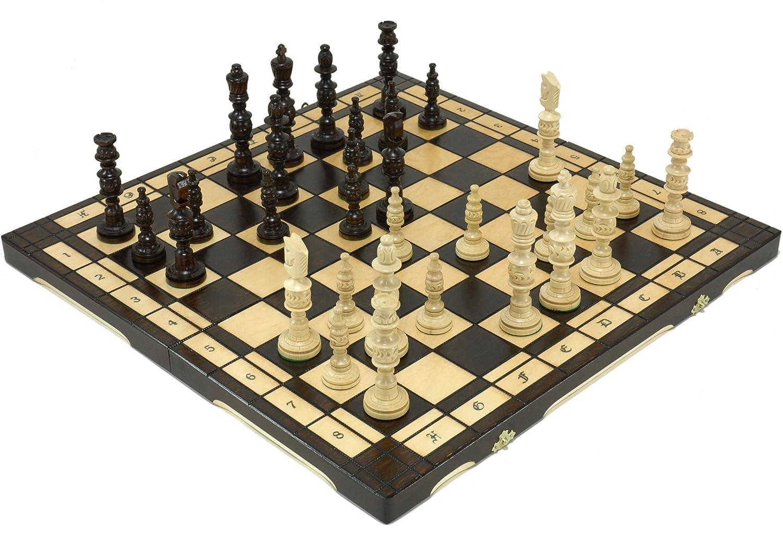 通販 手彫り彫刻の木製チェスセット 56.5cm×56.5cm ブラウン B073Q1L94D ポーランド製 チェス盤チェス駒セット 56.5cm×56.5cm B073Q1L94D, SPORTSFACTORY:bed83d3b --- nicolasalvioli.com
