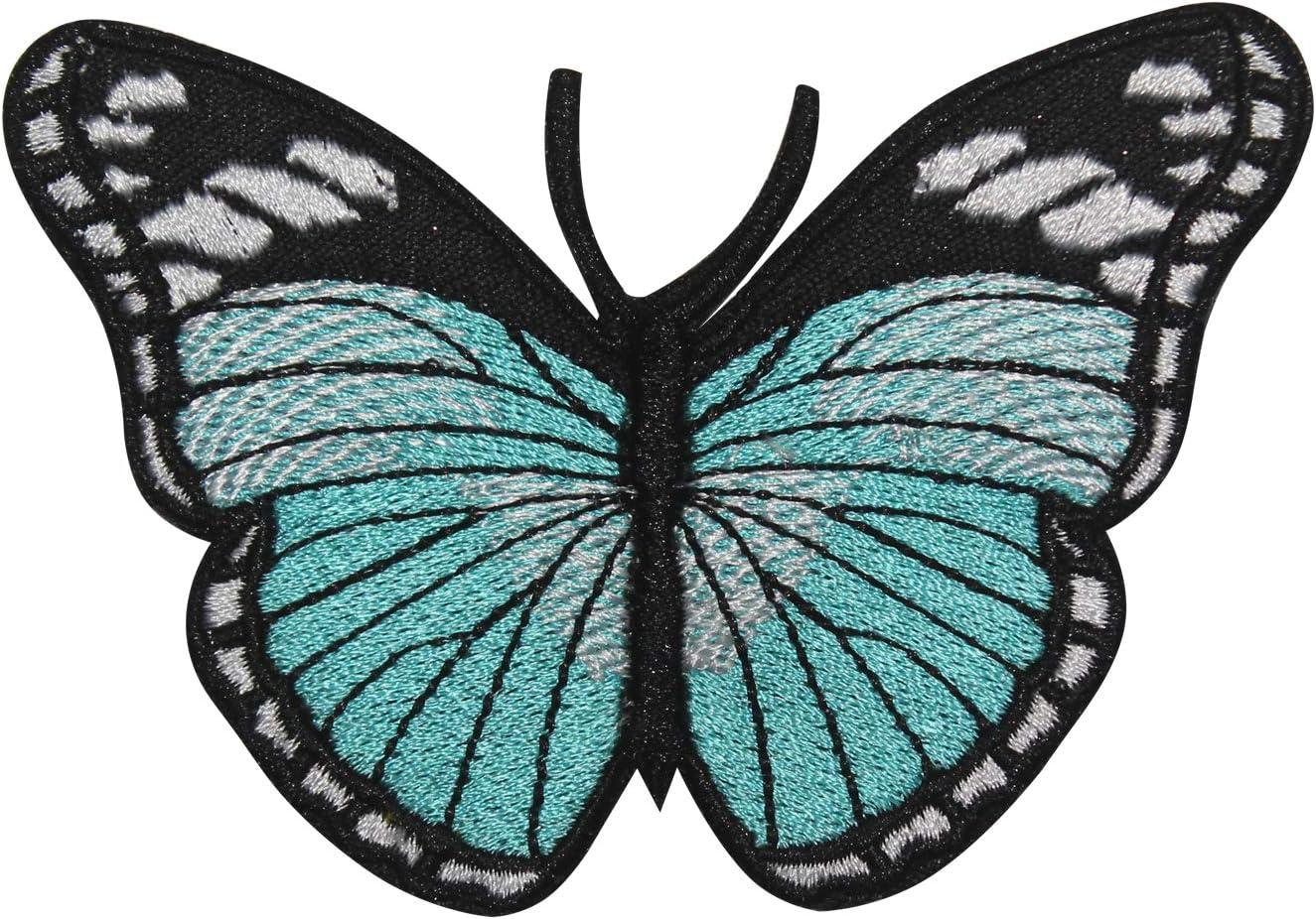 Farfalla Reale Aqua Motivo REAL EMPIRE Toppa Ricamata da Cucire o Applicare con Ferro da Stiro