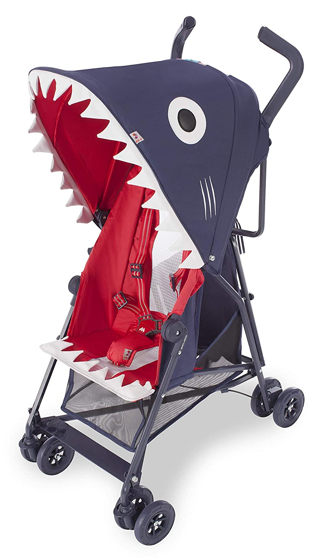 Maclaren Mark II Shark Silla de paseo - súper ligero, de los 6 meses hasta los 25 kg, Asiento multiposición, con accesorios