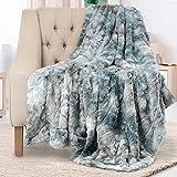 Everlasting Comfort Luxury Faux Fur Throw Blanket - Soft, Fluffy, Warm, Cozy, Plush (Arctic Blue)