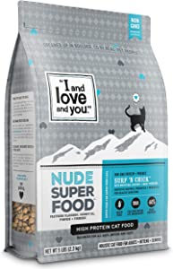 """I and love and you"" Nude Dry Cat Food - Grain Free Limited Ingredient Kibble, 5-Pound Bag (Variety of Flavors)"