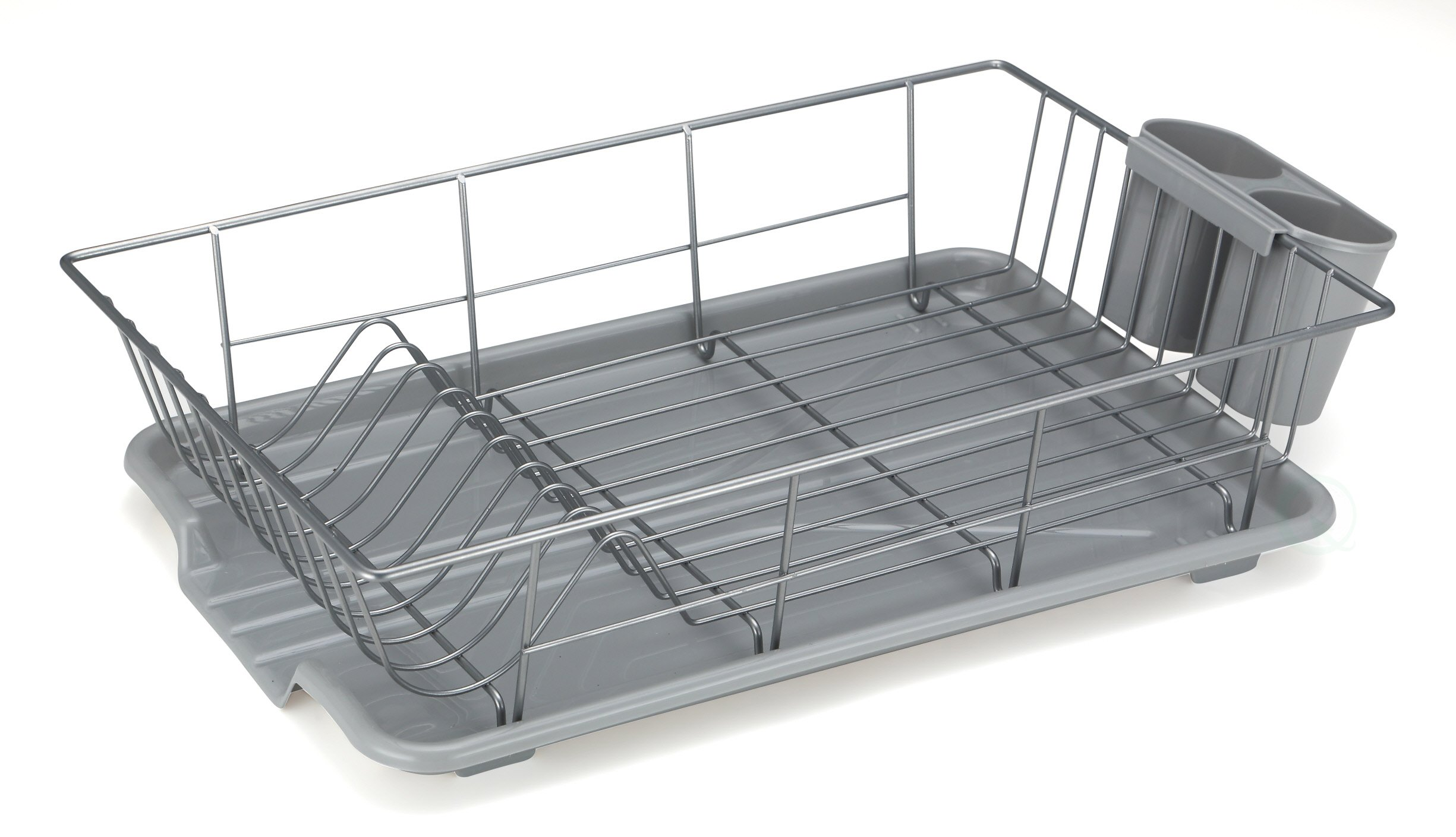 Kitchen Dish Drying Rack Stainless Steel With Plastic