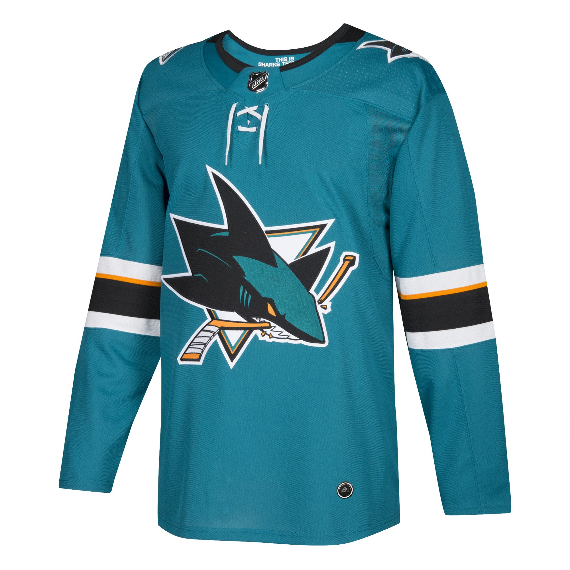 adidas Sharks Home Authentic Pro Jersey - Men's Hockey 44 Blue/Black