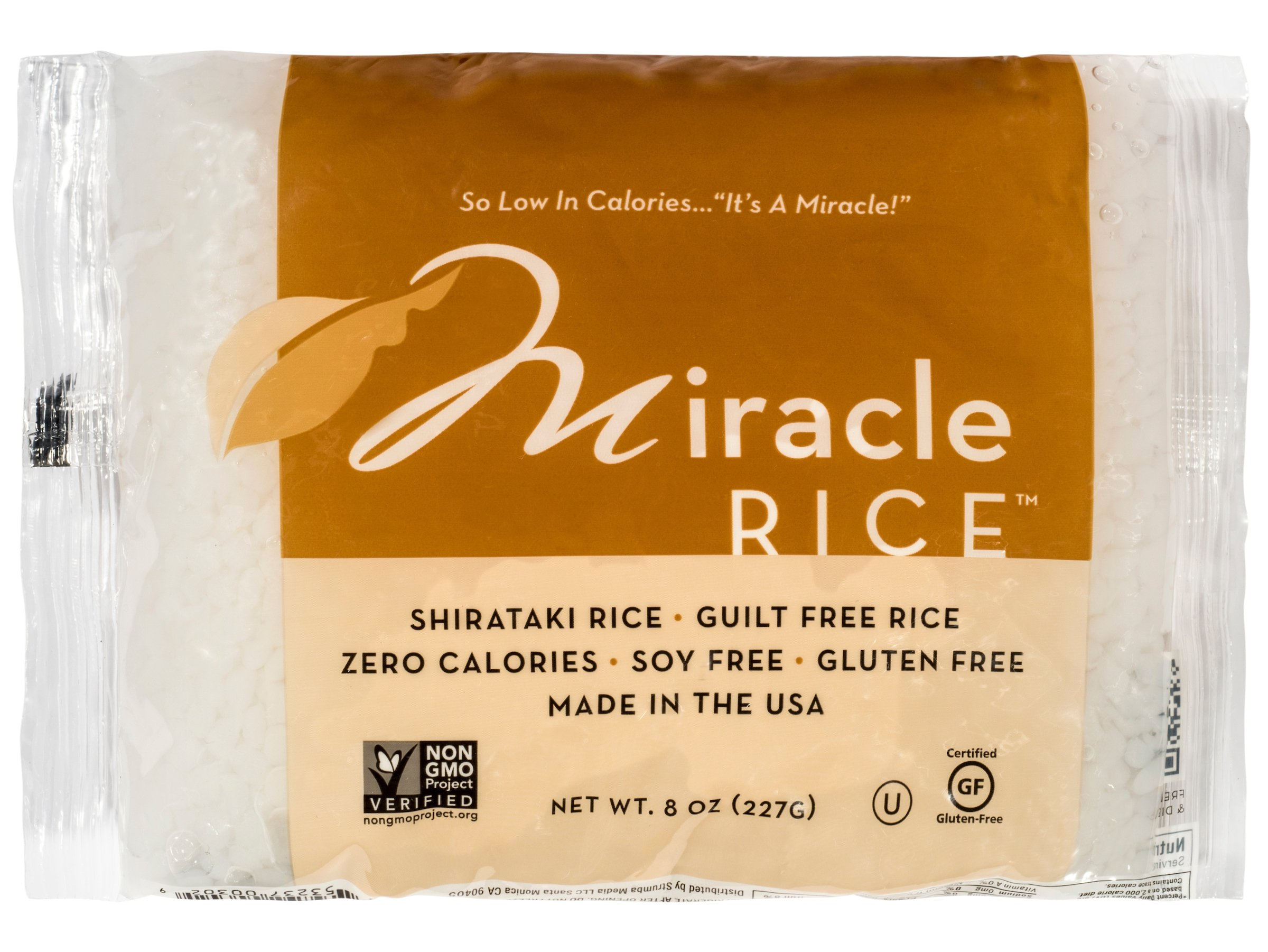 Miracle Noodle Zero Carb, Gluten Free Shirataki Rice, 8-Ounce,  (Pack of 6)