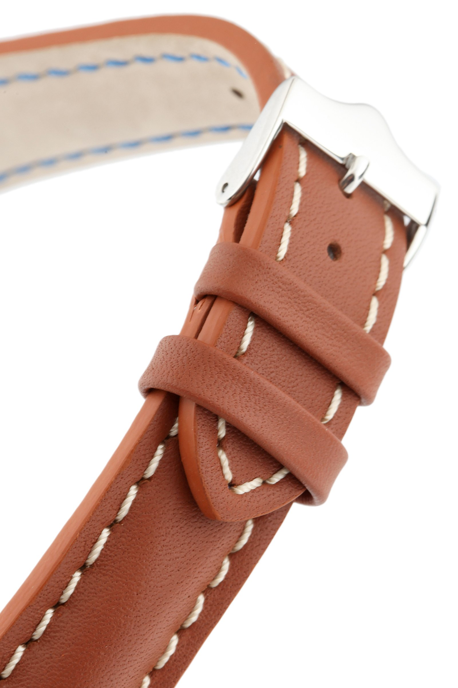 Signature Racing Wood 20 mm watch band. Replacement watch strap. Genuine Leather. Silver buckle by Signature (Image #5)