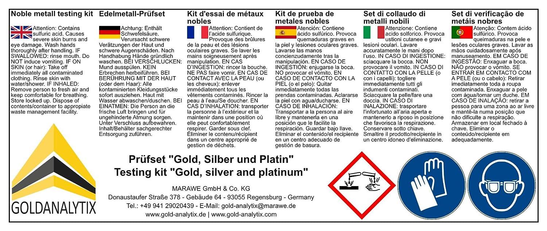 Kit de prueba para oro, plata y platino - Ácido de prueba, oro, quilate - Método fiable y rápido para comprobar oro, plata y platino: Amazon.es: Bricolaje y ...