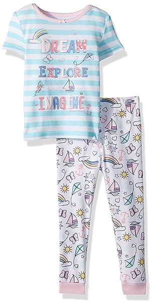Amazon.com: Nautica bebé niña pijama de 2 piezas, algodón de ...