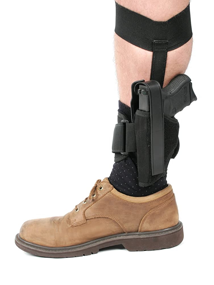 3. ATK BLACKHAWK! Ankle Holster, Black/Size 01, Right Hand