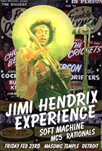 """Jimi Hendrix Detroit Psychedelic Rock Concert Poster 19"""" X 13"""" Ready for Display, Shipped Flat, Bagged and Boarded by Grande Ballroom Poster Artist Carl Lundgren Printed in Detroit MI USA"""