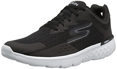 Skechers Performance Men's Go Run 400 Disperse Running Shoe,Black/White  Knit,7