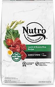 NUTRO NATURAL CHOICE Adult Dry Dog Food, Lamb & Brown Rice Recipe Dog Kibble, 20 lb. Bag