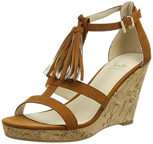 Another Pair of Shoes WyonaaK3, Damen Durchgängies Plateau Sandalen, Braun (mid brown21), 39 EU