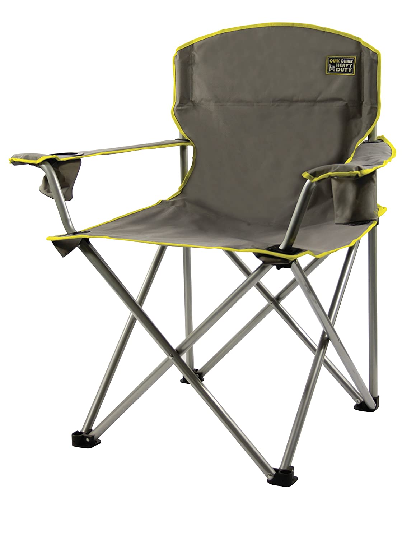Quik Chair Heavy Duty Folding Camp Chair – Grey