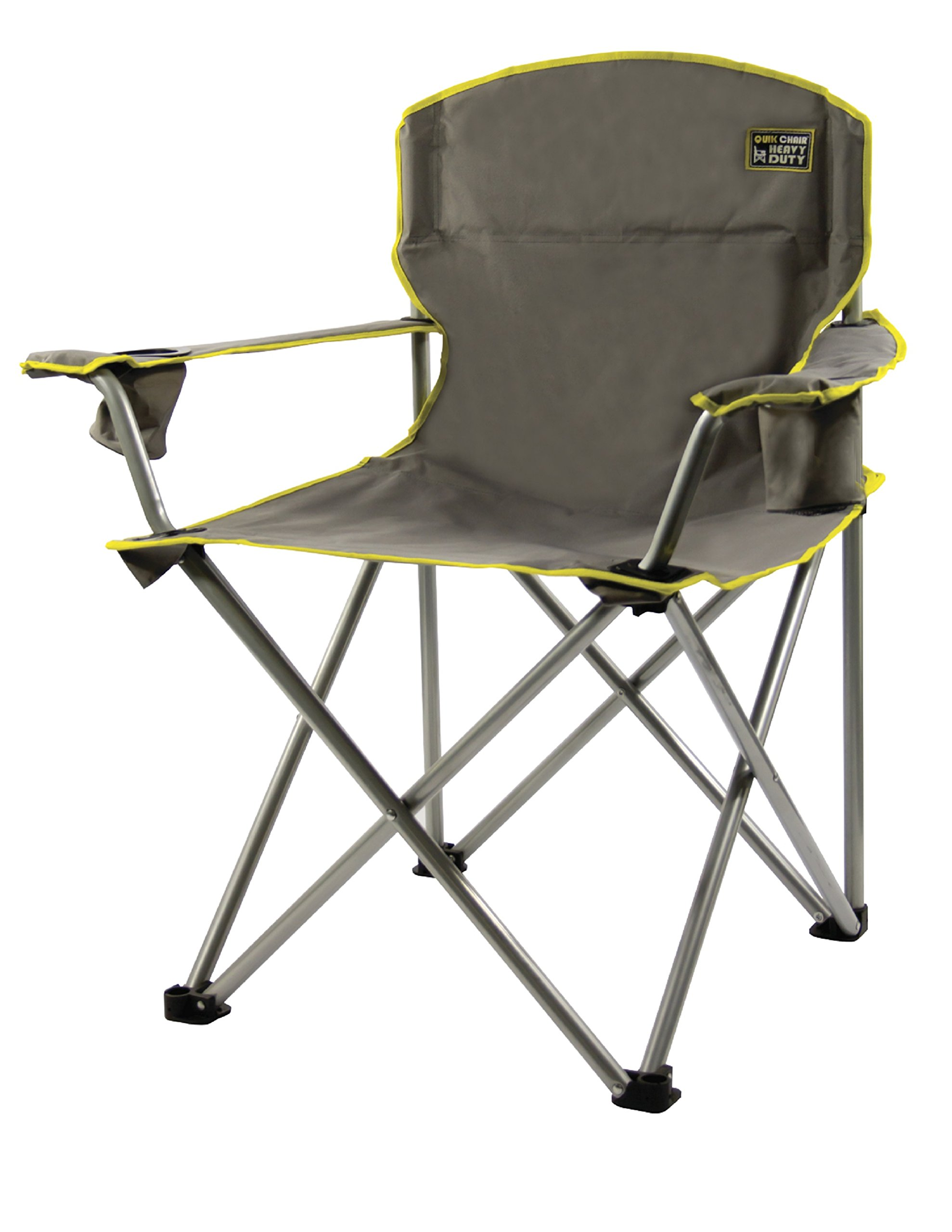 Quik Chair Heavy Duty Folding Camp Chair Grey Portable Seat