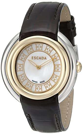 7e5ee6cde47b Escada Women's IWW-E2460034 Ivory Analog Display Swiss Quartz Black Watch:  Amazon.ca: Watches