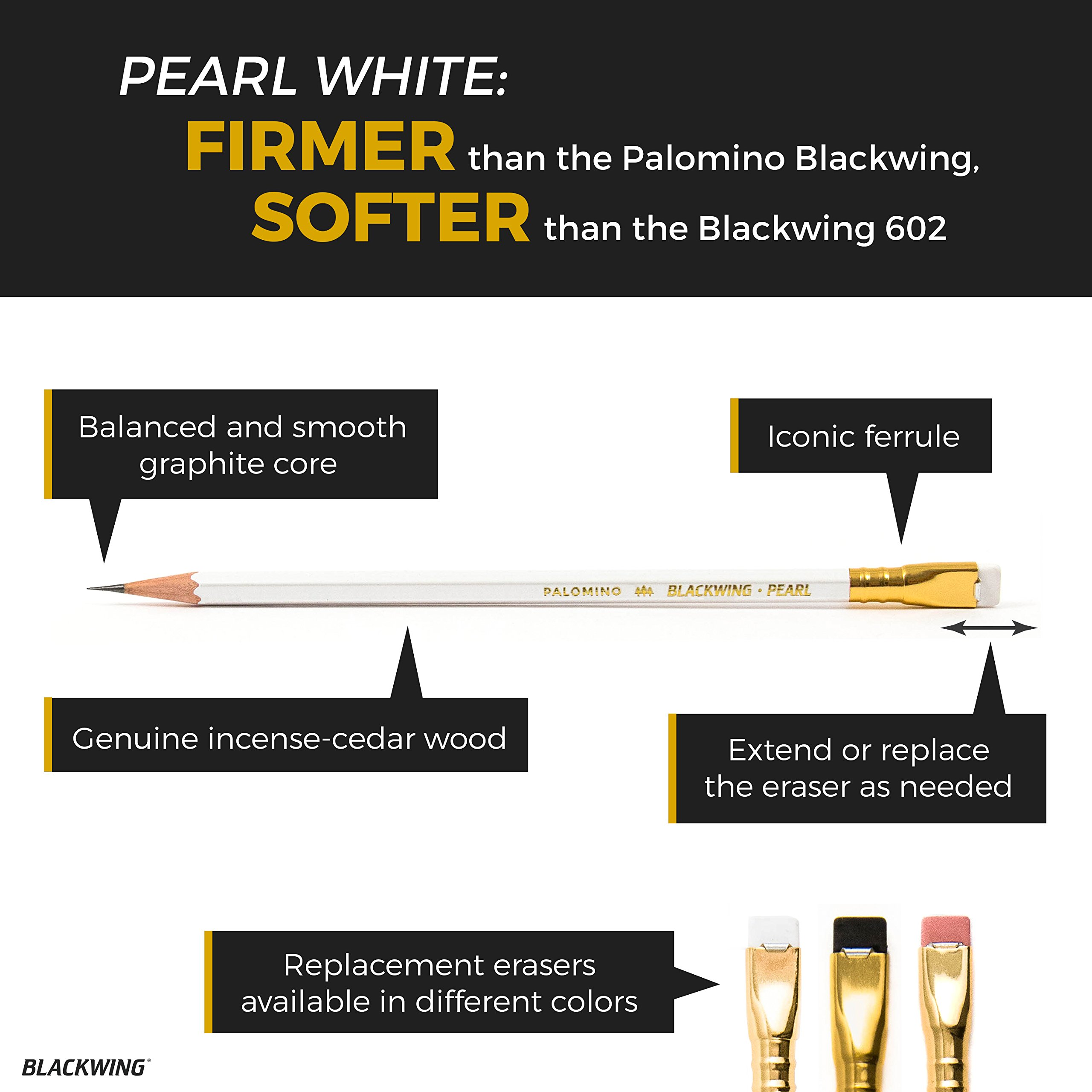 Palomino Blackwing Pearl Pencils - 12 Pack by Blackwing (Image #5)