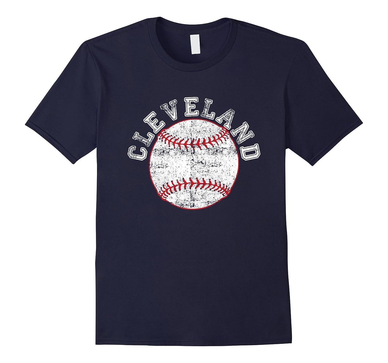 Distressed shirt Cleveland Ohio Baseball fractal tee-T-Shirt