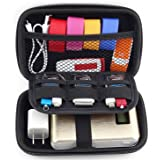 Portable Hard Drive Case Saygoer 2.5 Inch Carrying Travel Bag Shockproof Electronics Cables Accessories Organizer EVA, Black