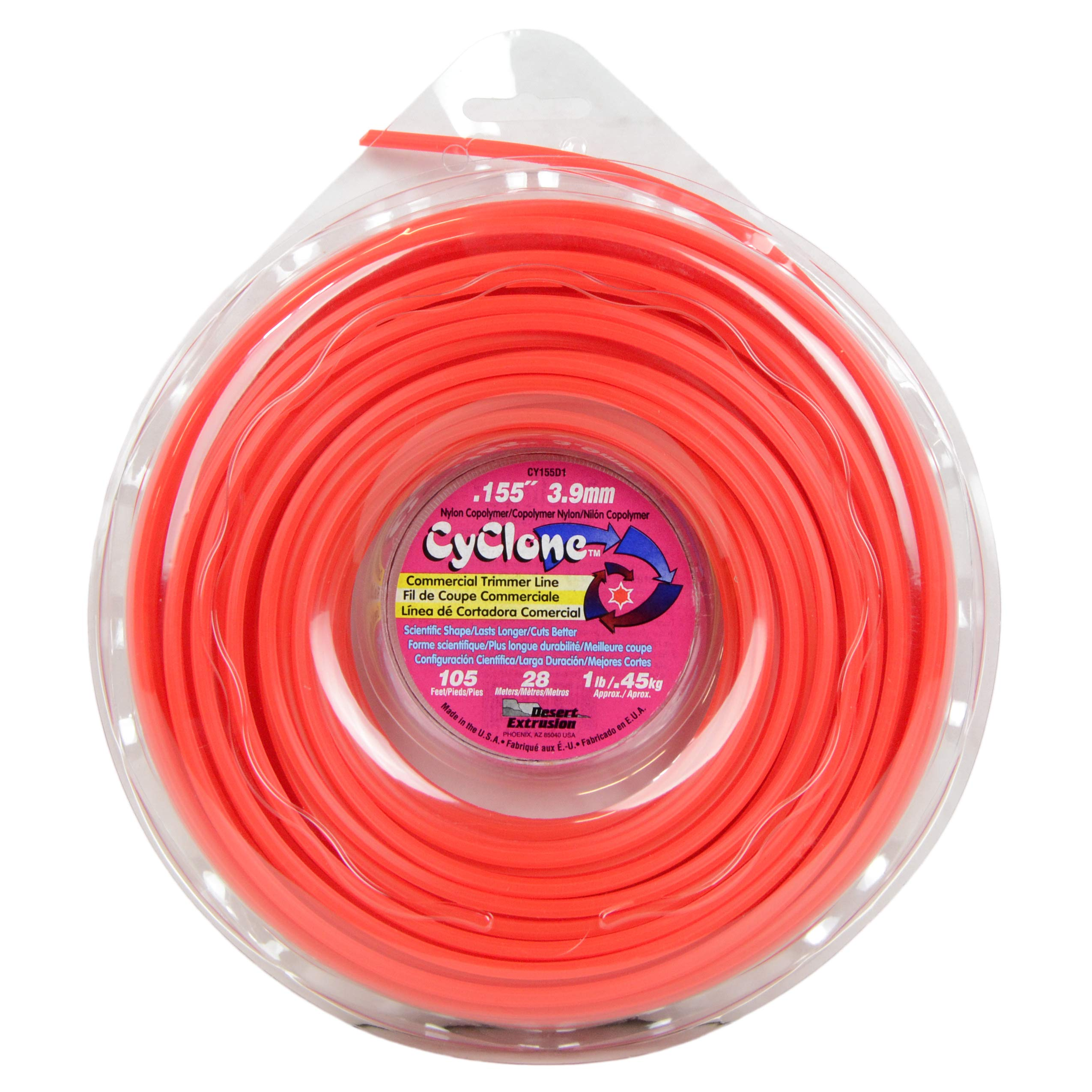 Cyclone CY155D1-12 0.155-Inch by 105-Feet Commercial Trimmer Line, Red by Cyclone