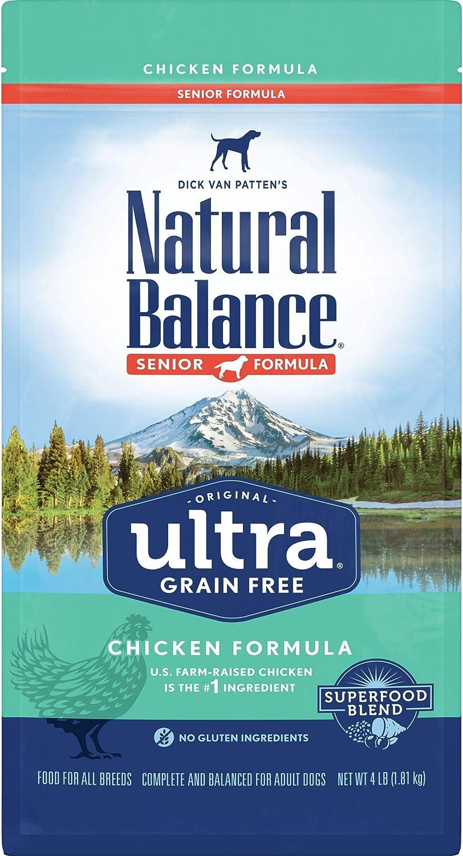 Natural Balance Original Ultra Grain Free Dry Dog Food for Senior Dogs, Chicken Formula
