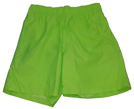 "6ec4390433 George Hot Apple Green Above The Knee 6"" Inseam Basic Swim Short Trunks  - X"
