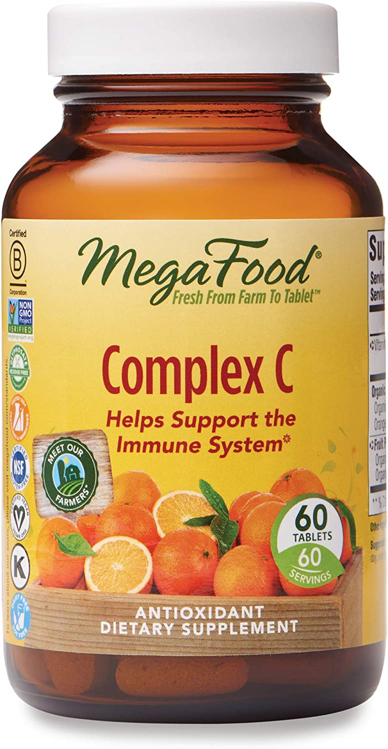MegaFood, Complex C, Supports a Healthy Immune System, Antioxidant Vitamin C Supplement, Vegan, 60 tablets (60 servings)