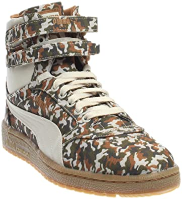 e31166ac28d PUMA Sky Ii Hi Camo Mens Gray Canvas High Top Lace up Sneakers Shoes 8