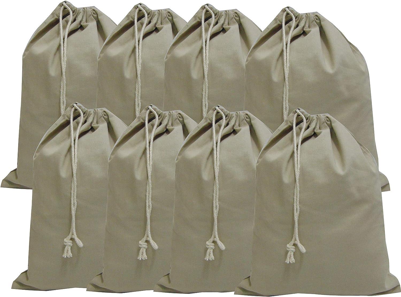 8 Pcs Eco Friendly Reusable Multipurpose Organic Fabric Cotton Sachet 9.5 X 13 inches Vegetable, Fridge Storage,Canvas drawstring Bags by Hell blues