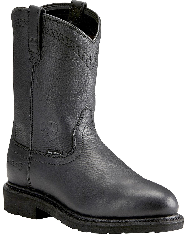 Ariat Men's Sierra Work Boot Steel Toe Black 7.5 EE