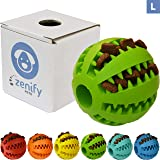 Zenify Puppy Toys Dog Toy Food Treat Interactive Puzzle Ball for Tooth Teething Chew Fetch Tennis Training Boredom Behaviour Dispensing Stimulation Pet Dogs & Puppies (Green Large)