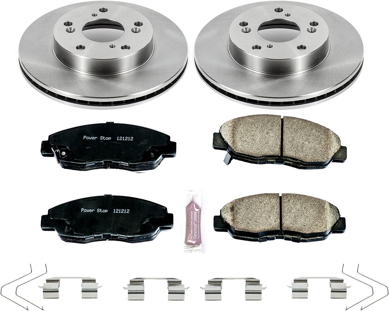 Max Brakes Front Carbon Ceramic Performance Disc Brake Pads KT115451 2013 13 Honda Civic LX Models w//Manual Transmission and HF Models Fits