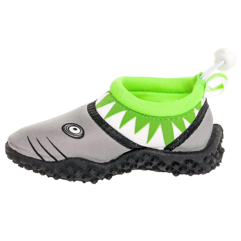 Amazon Frisky Kids Shark Aqua Slip Beach Water Shoes Shoes