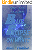 Fractal Flames Blue Eclipse on White