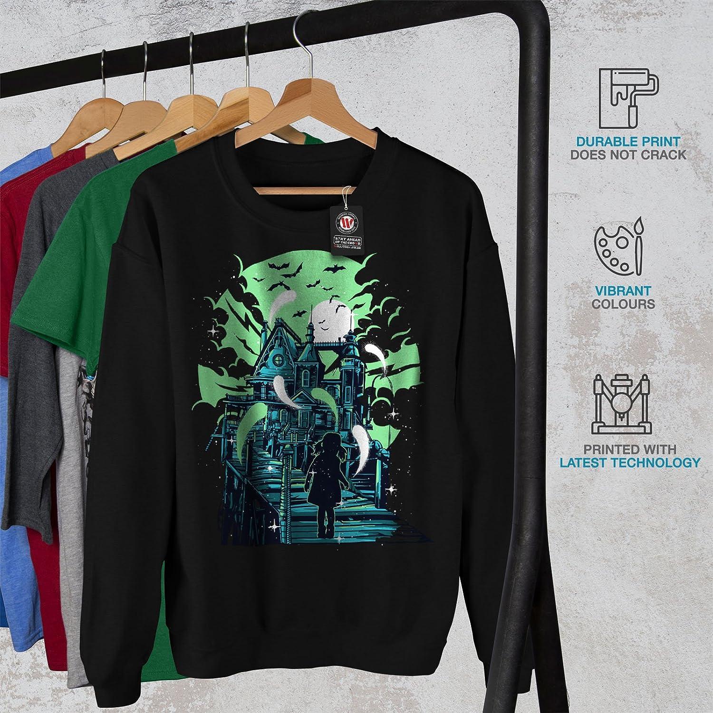 Horror Casual Jumper wellcoda Haunted House Mens Sweatshirt