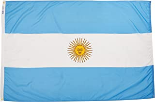 product image for Annin Flagmakers Model 190328 Argentina Flag Nylon SolarGuard NYL-Glo, 4x6 ft, 100% Made in USA to Official United Nations Design Specifications