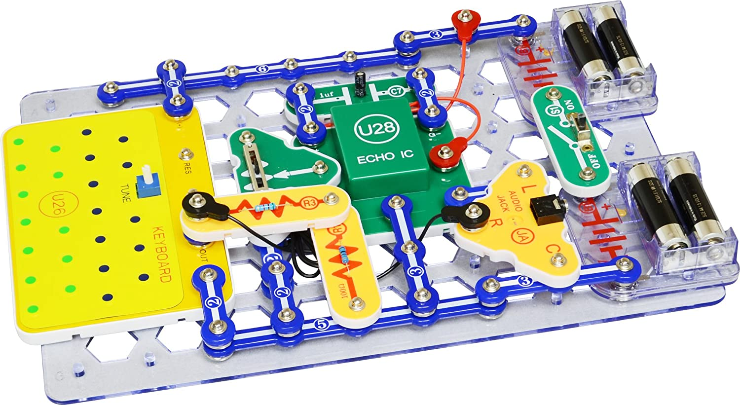 Snap Circuits Sound Electronics Exploration Kit 185 Elenco Pro Sc500 Discovery Science Fun Stem Projects 4 Color Project Manual 40 Modules Unlimited Toys