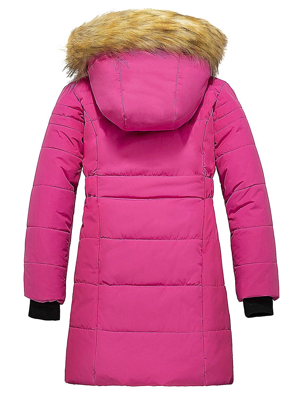 ZSHOW Girls Winter Parka Coat Warm Thick Long Puffer Jacket with Fur Hood