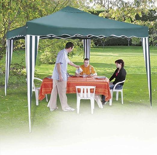 Provence Outillage 04052-Tienda Plegable con Carpa de jardín 3 x 3 m, Color Verde: Amazon.es: Jardín
