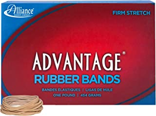 """product image for Alliance Rubber 26145 Advantage Rubber Bands Size #14, 1 lb Box Contains Approx. 2250 Bands (2"""" x 1/16"""", Natural Crepe)"""