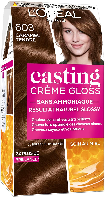 LOréal Paris Casting Crème Gloss Coloración Semipermanente Sin Amoníaco, 6.03 Caramelo