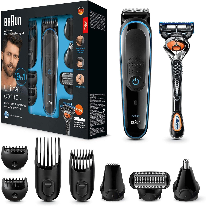 Afeitadora BRAUN todo en 1, pelo, barba, nariz y orejas