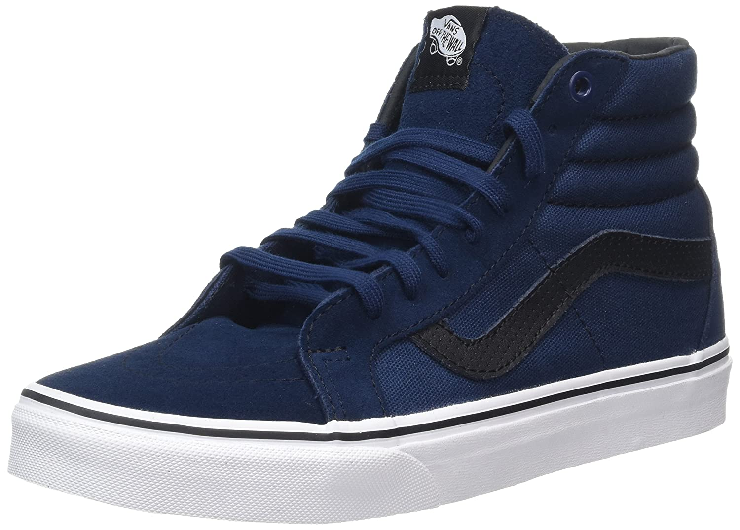VANS MENS SK8 HI REISSUE LEATHER SHOES B019KWIY42 8.5 B(M) US Women / 7 D(M) US Men|Dress Blue/Black