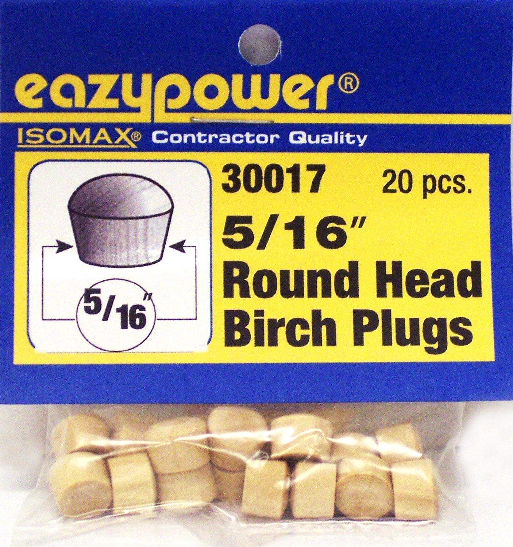 20 Piece Eazypower 30017 5//16 Round Head Plugs