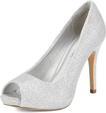 DREAM PAIRS Women's high Heel peep Toe Platform Pumps Shoes