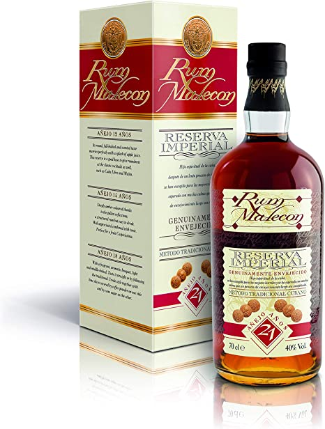 Malecon 21 Years Old Reserva Imperial Rum - 700 ml