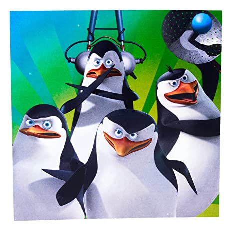 Penguins of Madagascar Lunch Napkins Party Accessory & Amazon.com: Penguins of Madagascar Lunch Napkins Party Accessory ...