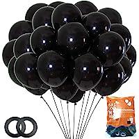 Party Balloons 12-inch Matt Black Latex Balloons 70 Pack Wedding Graduation Man Women Birthday Party Decorations(with…